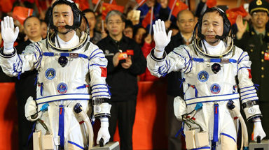 """China has planned to manufacture a space centre and work will finish on 2022. They took their first step for this. They send two astronauts to the space on October 17th by a shuttle named Shenzhou-11. They launched this spacecraft also named as """"Heavenly Vessel-11"""" from Jiuquan Satellite Launch Center at 7.30 am in Beijing time. Both of them will stay for 30 days in space and will do medical and space experiments. Two astronauts are Jing Haipeng (50) and Chen Dong (38)."""