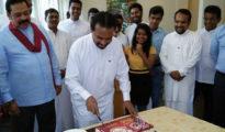 Wimal celebrates birthday in parliament