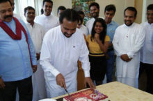 Wimal celebrates birthday in parliament